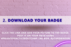 download your badge - private practice bootcamp